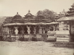Moongoor. Porch of a Sivite temple. [Shiva Temple, Mungur, Bellary District.]